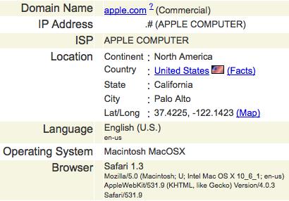 screen shot of the Apple employee visit