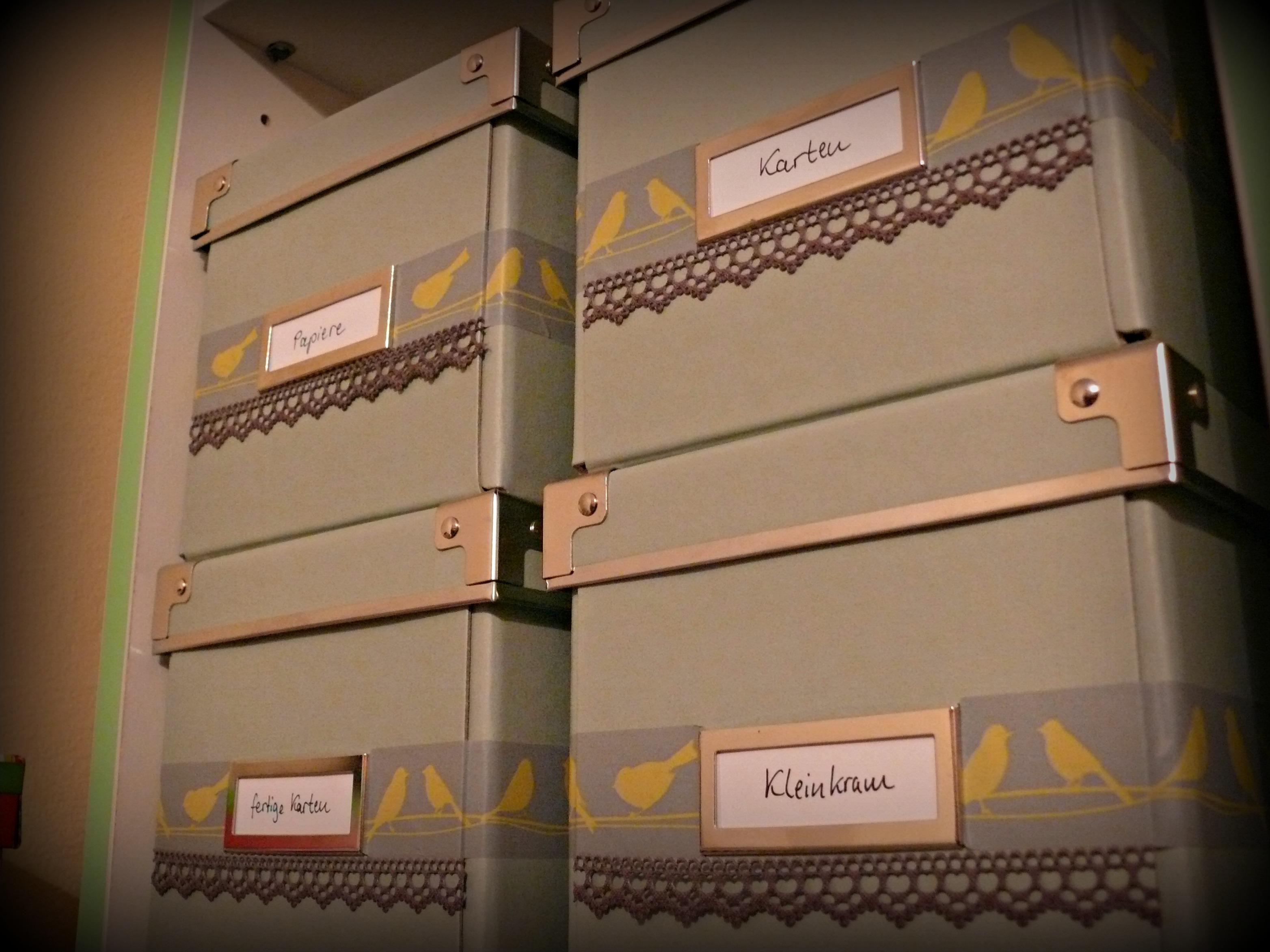 Aufbewahrungsboxen verschönern