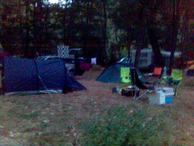 Foto von unserem Platz in Montbrun an der Tarn - nach dem Unwetter wieder in Ordnung