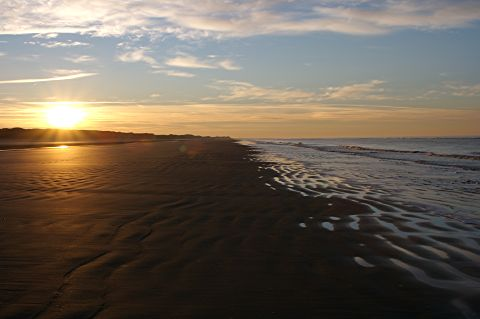 sunset on the beach, North Sea island Juist