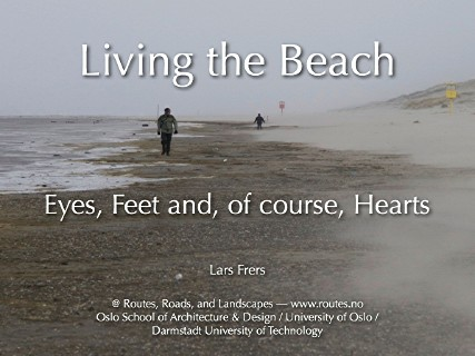 picture of the first slide of my presentation, showing a stormy beach