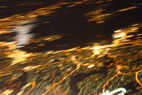 photo of Oslo at night taken from plane