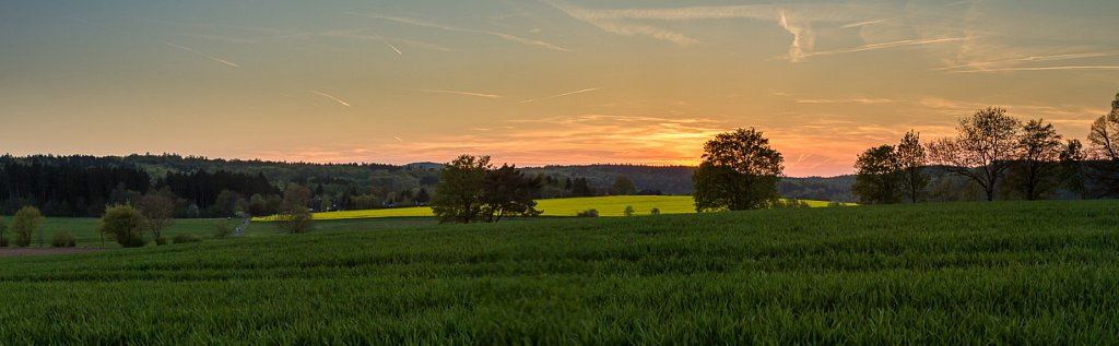 sunset in germany