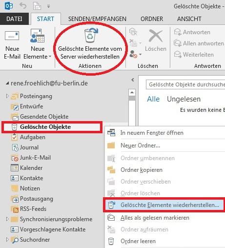 Gelöschte Emails Wiederherstellen Web.De
