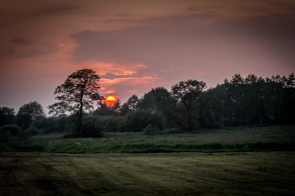 Sonnenuntergang in Friesland